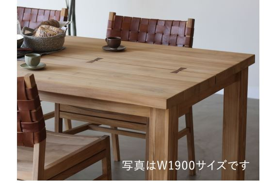 NOWHERE LIKE HOME DINING TABLE TUSKER W1500の画像