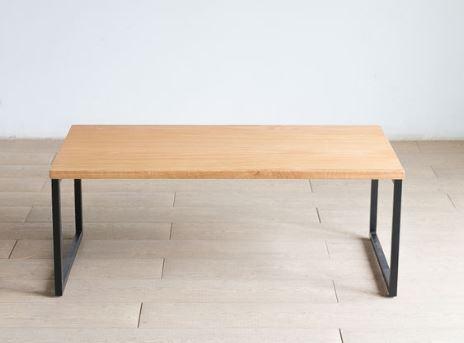 CLAS『素材を活かした鉄脚ローテーブル』