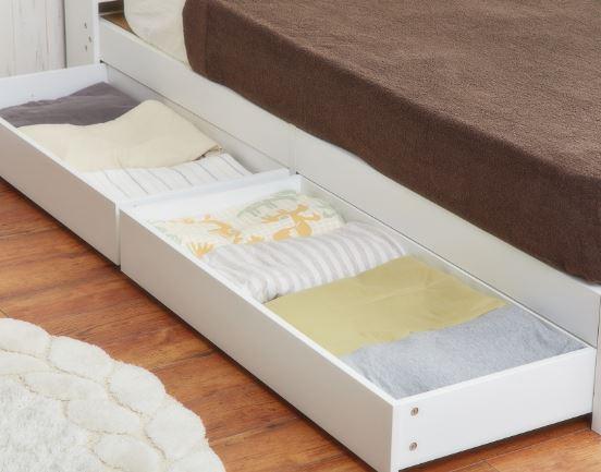 airRoom『引き出し収納付きシンプルシングルマットレス付きベッド』収納