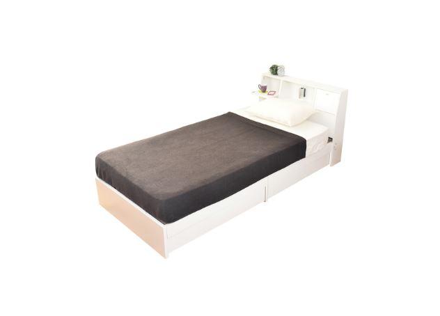 airRoom『引き出し収納付きシンプルシングルマットレス付きベッド』